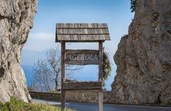 Do widzenia od Agerola wioski Zdjęcie Stock