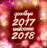 Do widzenia 2017 2018 powitanie Zdjęcie Royalty Free