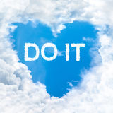 Do it word nature on blue sky Royalty Free Stock Image