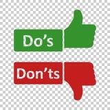 Do y pone ?ts firma el icono en estilo transparente Como, ejemplo desemejante del vector en fondo aislado S?, ning?n concep del n ilustración del vector
