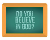 Do you believe in god blackboard Stock Images