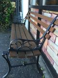 Do You Bench. Refurbished bench for customers outside of restaurant Royalty Free Stock Photo