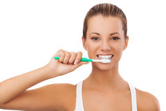 Do you brush your teeth Royalty Free Stock Photography