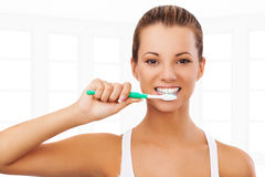 Do you brush your teeth Royalty Free Stock Photos