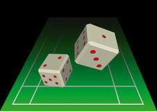 Do you feel lucky today?. Pair of dices on the playing table Royalty Free Stock Images