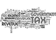 When Do You File A Tax Return Word Cloud. WHEN DO YOU FILE A TAX RETURN TEXT WORD CLOUD CONCEPT Stock Image