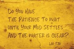 Mud settles Lao Tzu royalty free stock photography