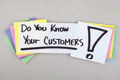 Do You Know Your Customers. / marketing strategy concept Royalty Free Stock Image