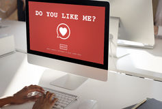 Do You Like Me? Valentine Romance Heart Love Passion Concept Royalty Free Stock Photography
