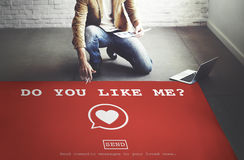 Do You Like Me? Valentine Romance Heart Love Passion Concept Royalty Free Stock Images