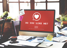 Do You Like Me? Valentine Romance Heart Love Passion Concept Stock Photography