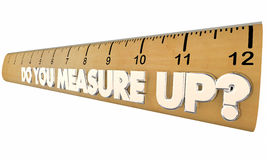 Do You Measure Up Ruler Qualified Evaluation Review Royalty Free Stock Photography