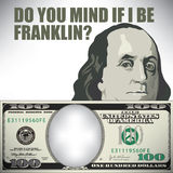 Do you mind if I be Franklin. Whimsical money graphic stock illustration