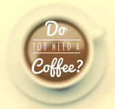 Do you need a coffee vector Royalty Free Stock Photography