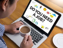 DO YOU NEED A JOB? Royalty Free Stock Images