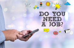 DO YOU NEED A JOB? Royalty Free Stock Photo