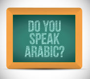 Do you speak arabic. illustration design Stock Photo