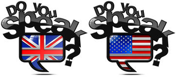 Do You Speak English and American Stock Images