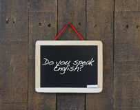 Do you speak english. Royalty Free Stock Photo