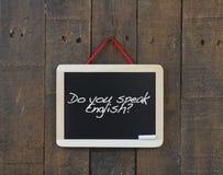 Do you speak english. Royalty Free Stock Photo