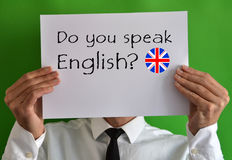 Do you speak English Royalty Free Stock Photo