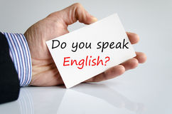 Do You speak English?? Stock Photography