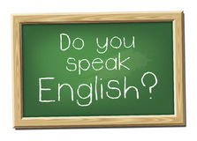 Do you speak English? Royalty Free Stock Photo