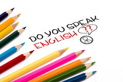Do you speak english Royalty Free Stock Image