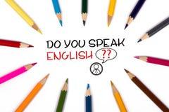 Do you speak english Stock Images