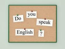 Do you speak English? Royalty Free Stock Images