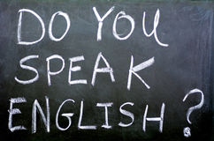 Do you speak english ? Royalty Free Stock Images