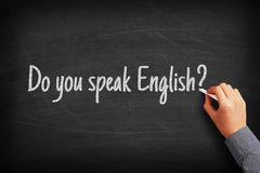 Do you speak English Language Concept Stock Photo