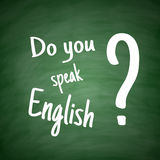 Do you speak English Language Concept Royalty Free Stock Photo