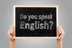 Do you speak English Language Concept Royalty Free Stock Photos