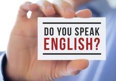 Do you speak english Royalty Free Stock Photos