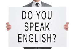 Do you speak english? Stock Images