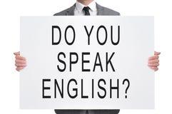 Do you speak english? Stock Images