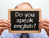 Do you speak English sign Royalty Free Stock Images