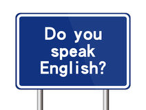 Do you speak English sign Stock Images