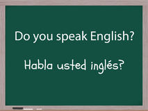 Do you speak English in Spanish Royalty Free Stock Photography