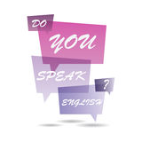 Do You Speak English? Stock Photography