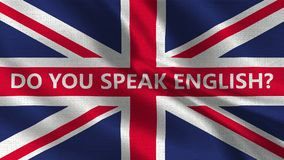 Do You Speak English - Texture Flag 001. British Flag with Text English vector illustration