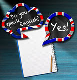 Do You Speak English - Two Speech Bubbles Stock Images