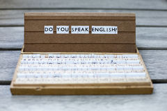 Do you speak english? Stock Photography