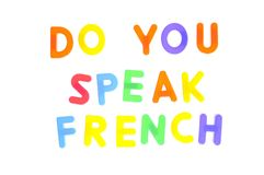 Do you speak french. Stock Photography