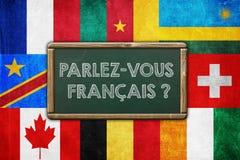 DO YOU SPEAK FRENCH. Vintage background concept royalty free illustration