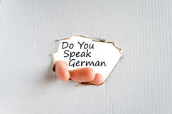 Do You Speak German Concept Royalty Free Stock Image