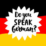 Do you speak German Stock Images