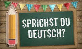 Do you speak German question on chalk board Stock Photos