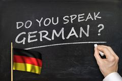 Do You speak German? Text written on blackboard Royalty Free Stock Photos